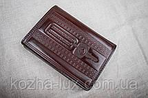 Кожаная обложка для прав Имидж шоколадный 09-003, фото 3