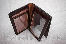 Кожаная обложка на права Имидж коричневая 07-003, фото 2