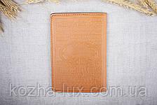 Кожаная обложка на паспорт Имидж рыжая 05-002, фото 2