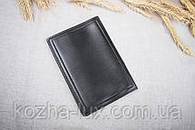 Кожаная обложка на паспорт Имидж черная 06-001, фото 3