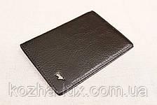 Кожаная обложка на паспорт Braun Buffel черная 1-619, фото 2