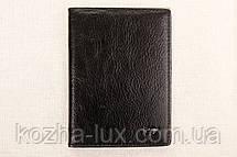 Кожаная обложка на паспорт Braun Buffel черная 1-619, фото 3