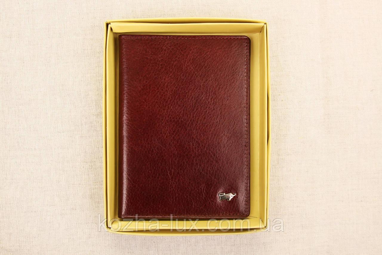 Кожаная обложка на паспорт Braun Buffel шоколадный 3-619