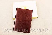 Кожаная обложка на паспорт Braun Buffel шоколадный 3-619, фото 2