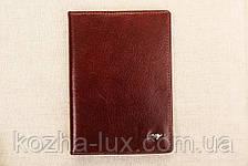 Кожаная обложка на паспорт Braun Buffel шоколадный 3-619, фото 3