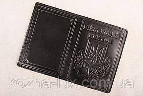 Кожаная обложка Військовий квиток чёрный 014-001, фото 2