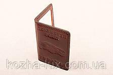 Кожаная обложка На две карточки шоколадный 020-003, фото 2