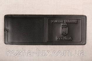 Шкіряна обкладинка Учасник бойових дій чорний 021-001
