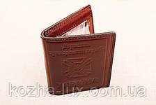Кожаная обложка удостоверение пограничника шоколадный 022-003, фото 2