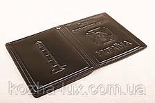 Кожаная обложка удостоверение пограничника чёрный 022-001, фото 2