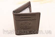 Кожаная обложка удостоверение пограничника чёрный 022-001, фото 3
