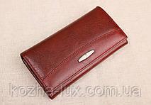 Женский кожаный кошелек Kochi бордовый 515 DR, фото 3