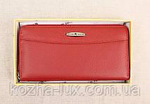 Женский кожаный кошелек Kochi темно-красный 9026-R, фото 3
