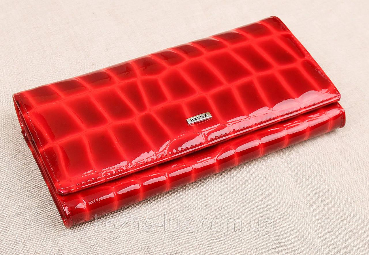 Жіночий шкіряний гаманець Balisa бордовий 82611R