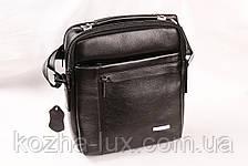 Мужская кожаная сумка Cheer Soul черная 1-7061, фото 2