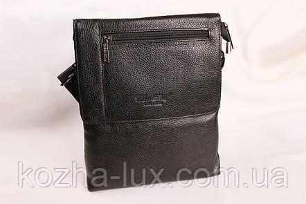 Мужская кожаная сумка Cheer Soul черная 1-5337, фото 2