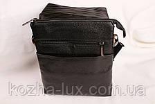 Мужская кожаная сумка Cheer Soul черная 1-5337, фото 3