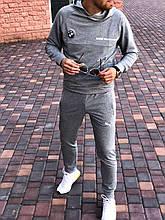 Мужской спортивный костюм BMW Motorsport с капюшоном серый