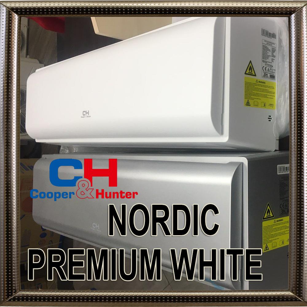 Кондиционер COOPER&HUNTER CH-S18FTXN-PW до 50 м2 инверторный до -28С серия Nordic PREMIUM белый матовый