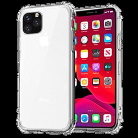 Чохол для iPhone SE 2020 силіконовий з посиленими кутами, Прозорий