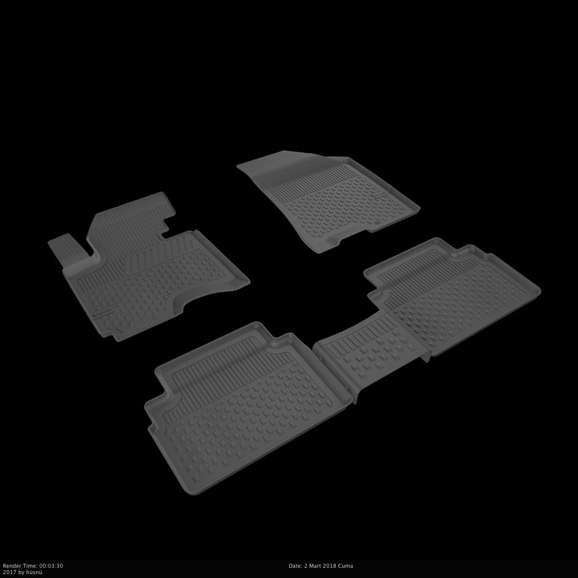 Автомобильные коврики в салон SAHLER 4D для HYUNDAI IX35 2010-2015 HYU-03