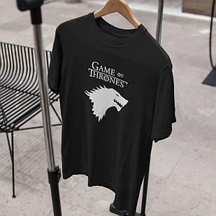 "Чоловіча футболка з принтом / написом ""Game of thrones"""
