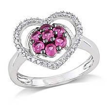 Серебряное кольцо, размер 18 (066159)
