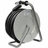 Удлинитель электрический на катушке 4 гнезда 30 м кабель КГНВ 2х2.5 мм², фото 4
