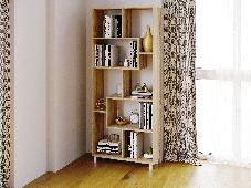 Полка для книг, стеллаж для дома, 6 цветов из ДСП, фото 3