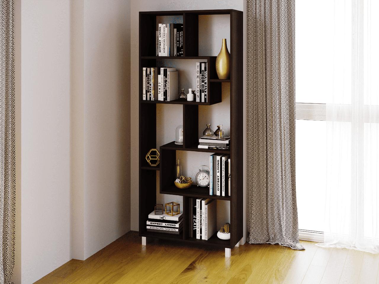 Полка для книг, стеллаж для дома, 6 цветов из ДСП