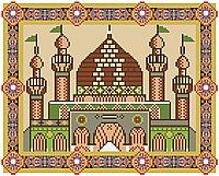 Мечеть (килимок для молитви) . Схема повної вишивки бісером