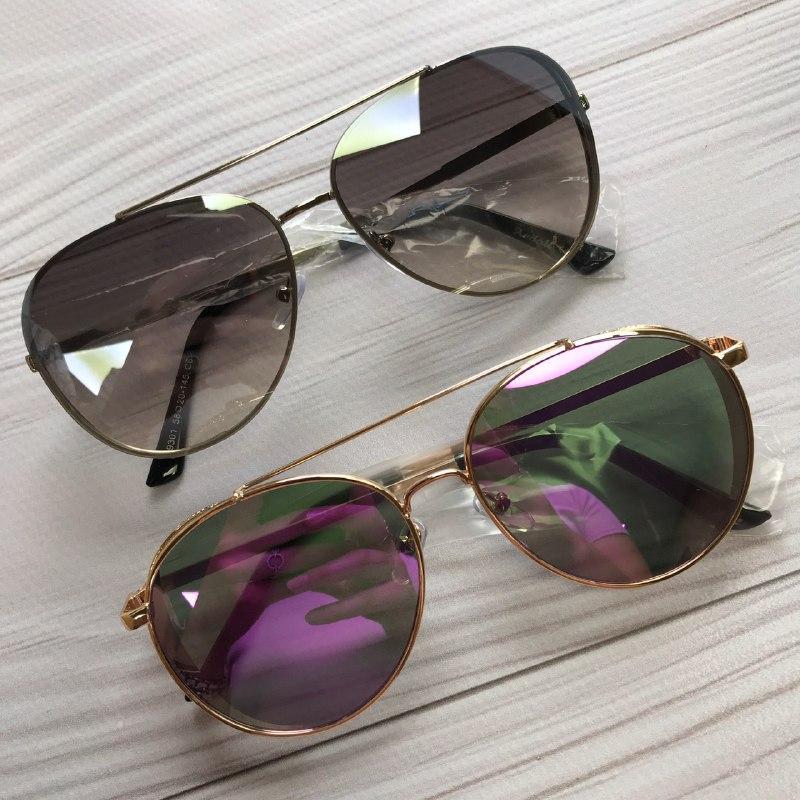 Женские солнцезащитные очки авиаторы зеркальные