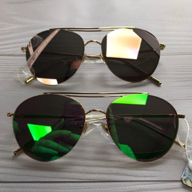 Солнцезащитные очки авиаторы женские зеркальные