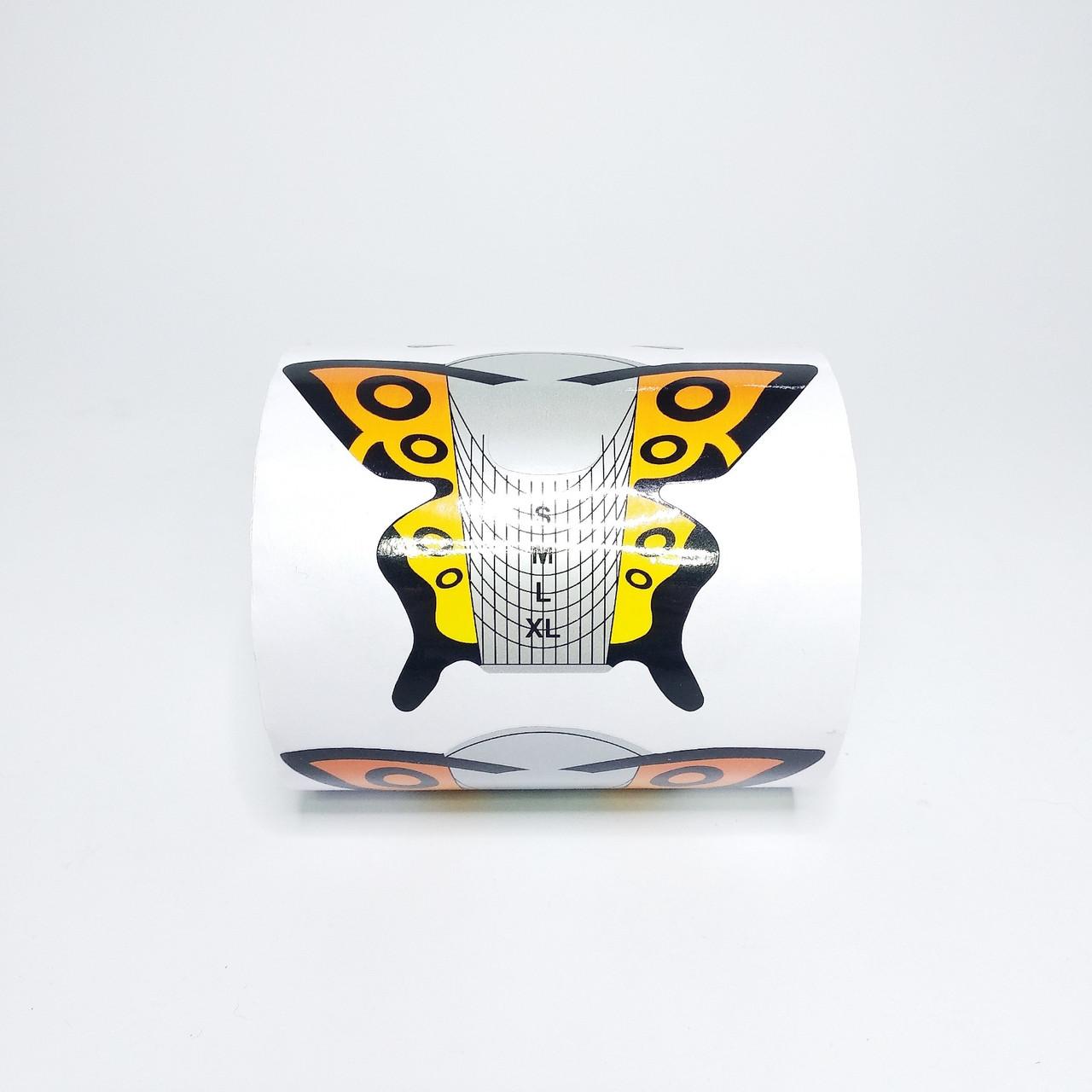 Формы для наращивания ногтей 500 шт Бабочки