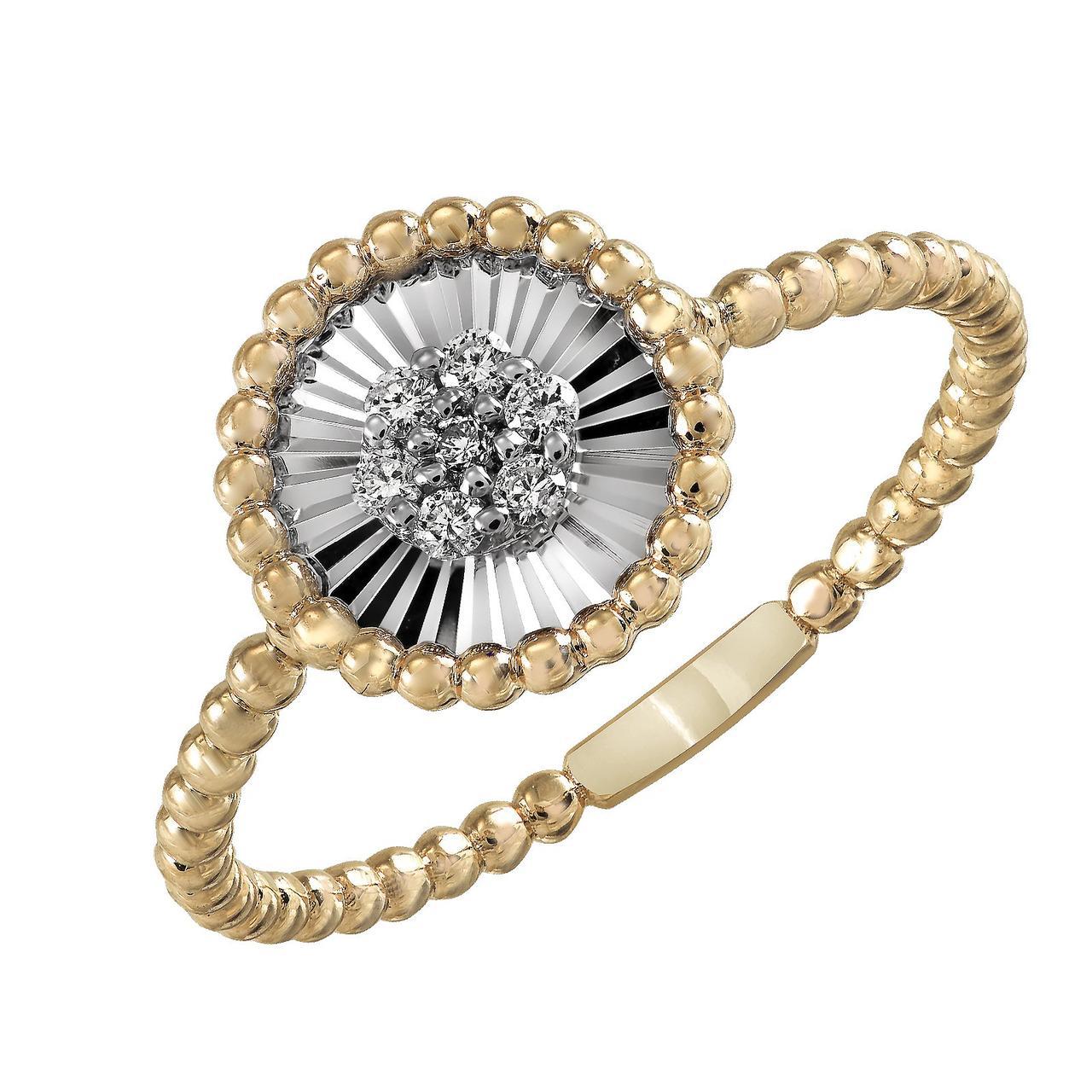 Золотое кольцо с бриллиантами, размер 17 (817327)