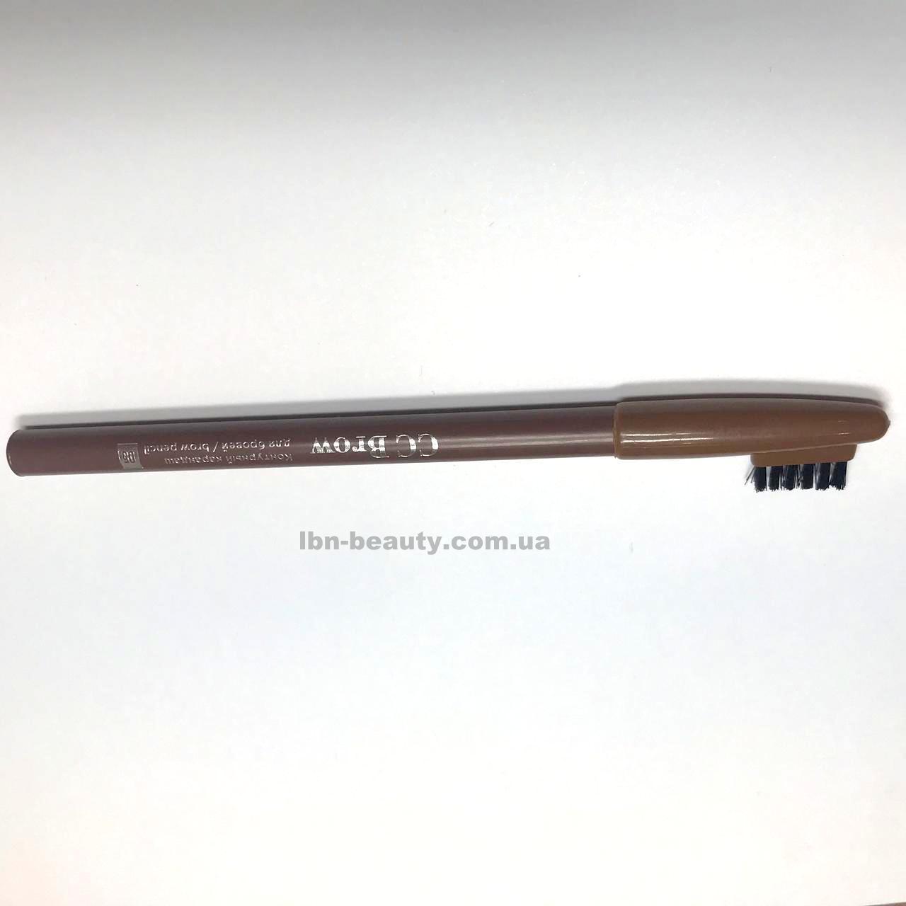 Колір 02 (сіро-коричневий)Контурний олівець для брів brow pencil CC BROW