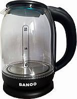 Электрочайник Banoo BN-2020 прозрачный с подсветкой 2 л.