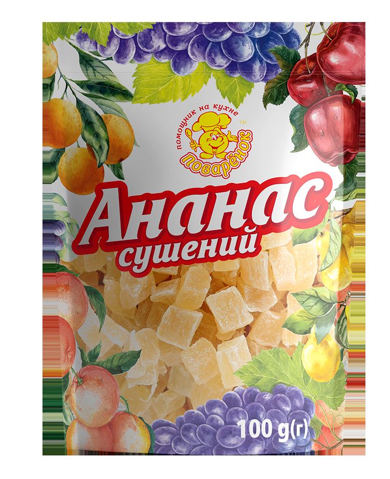 Ананас сушений 100 г.
