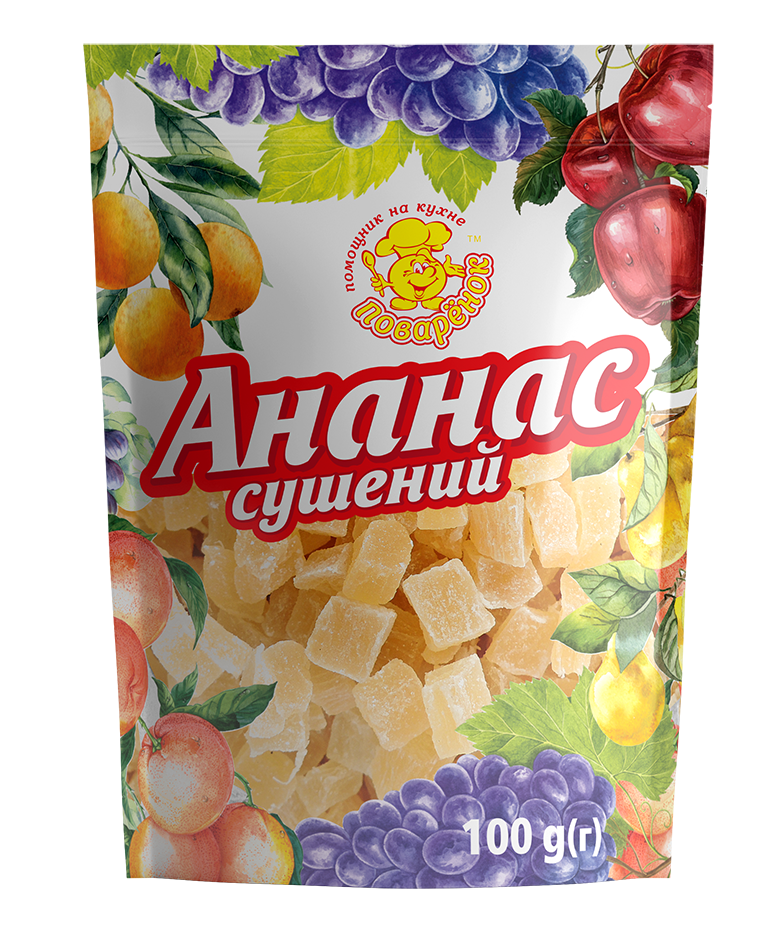 Ананас сушеный 100 г.