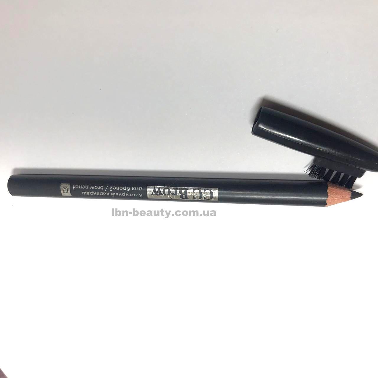 Цвет черный Контурный карандаш для бровей brow pencil CC BROW