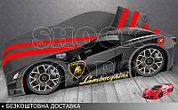 Кровать машина Ламборгини Элит от 1500х700 КОМПЛЕКТ с матрасом, фото 1