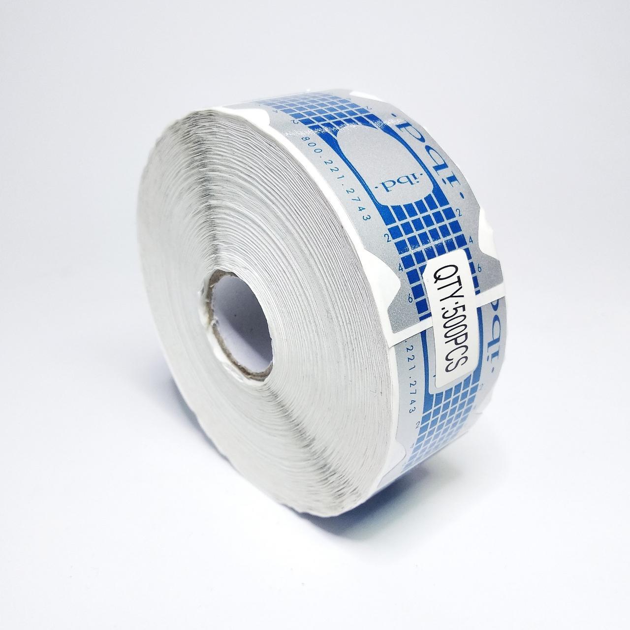 Формы для наращивания ногтей ibd 500 шт рулон