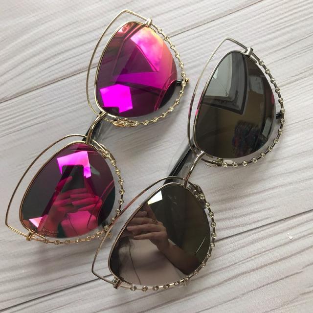Женские очки солнцезащитные со стразами