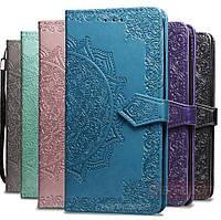 Кожаный чехол книжка Vintage для Samsung Galaxy A21s 2020 A217 с визитницей (Разные цвета)