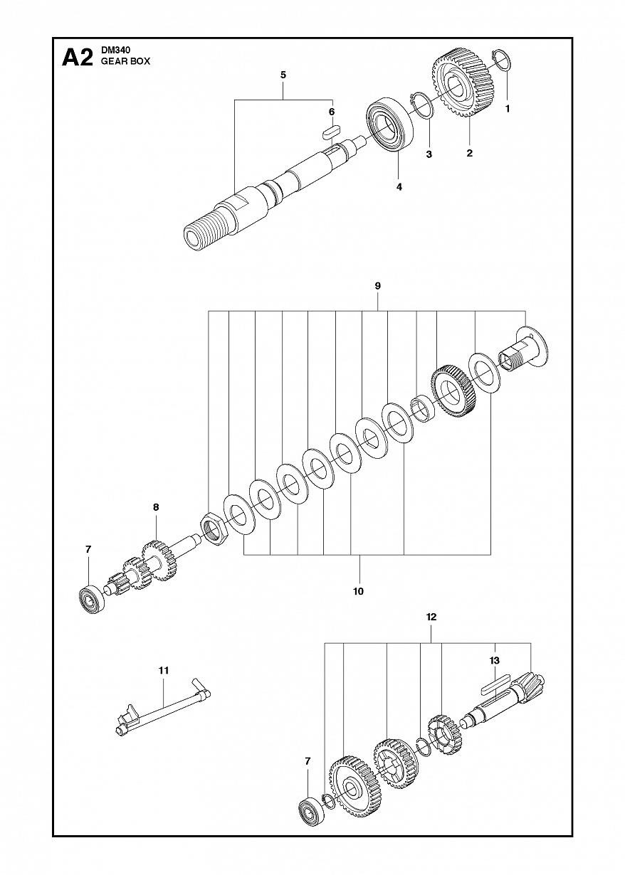 2 КОРОБКА ПЕРЕДАЧ | DM340, 2012 бурильная машина Хускварна | алмазное бурение |