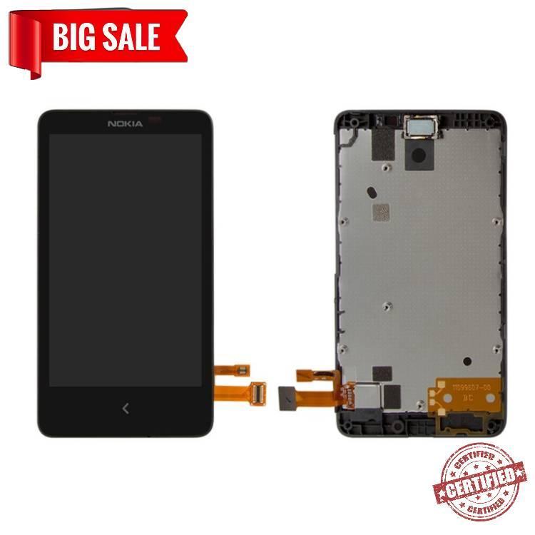 Модуль (дисплей+сенсор) для Nokia X Dual Sim RM-980 чорний