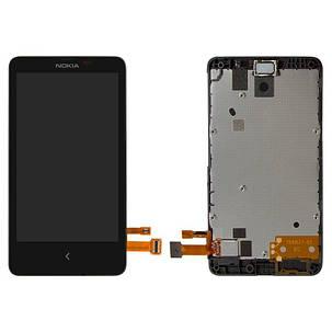 Модуль (дисплей+сенсор) для Nokia X Dual Sim RM-980 чорний, фото 2