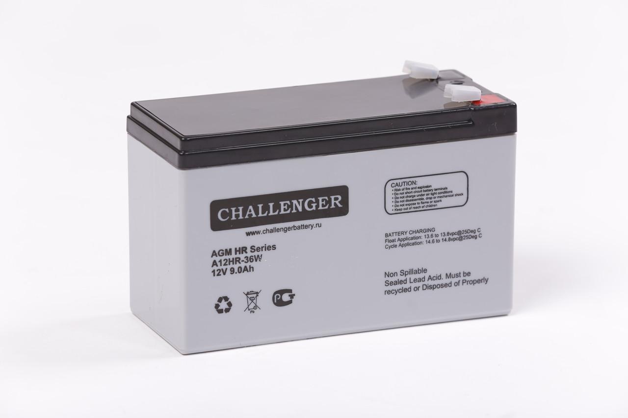 Акумуляторна батарея AGM Challenger A12HR-36W 9Ah 12V