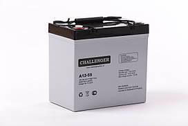 Аккумуляторная батарея AGM Challenger A12-55 Ah 12V