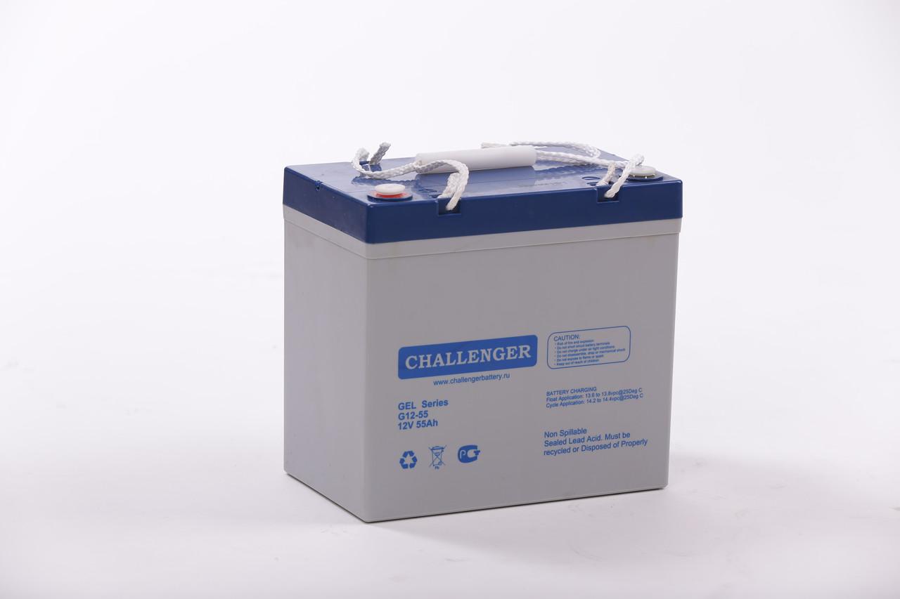 Гелевий акумулятор Challenger G12-55 Ah 12V